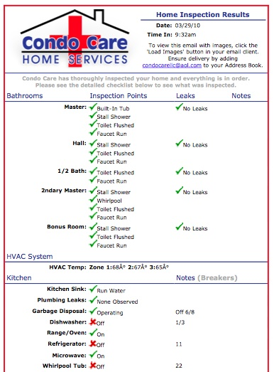 Home House Watch Inspections List Services In Myrtle Beach